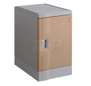 ABS Plastic Gym lockers, Coffee Color