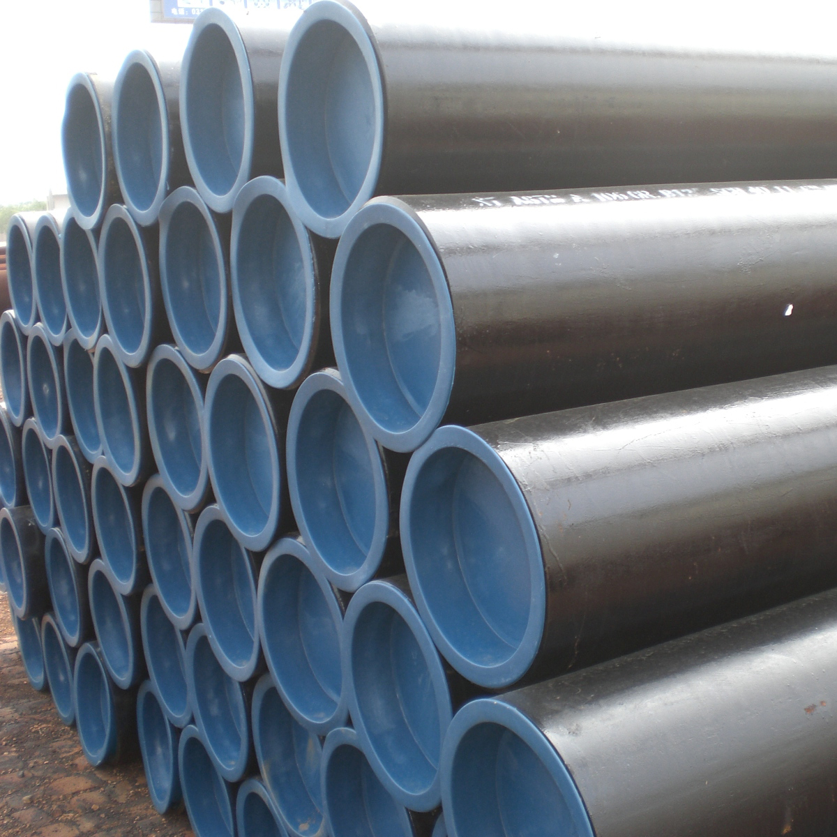 OD 508mm Thk 15mm Steel Pipe ERW ST37 3LPE DIN 30670