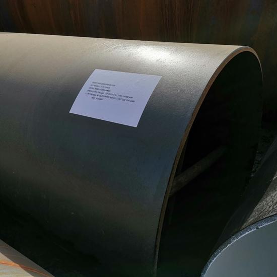 DN1200 SCH STD API 5L Gr B, Black Coated LSAW Carbon Steel Pipe Plain Ends