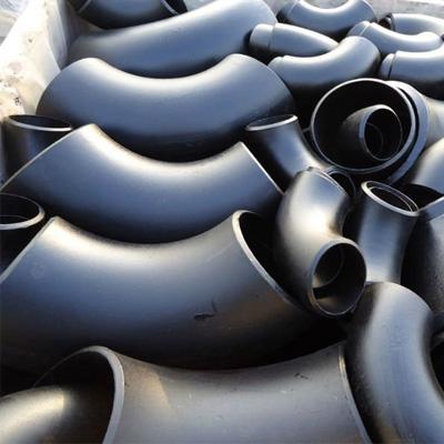 ASME B16.11 Carbon Elbow C22.8 6 Inch 3000# Black Paint