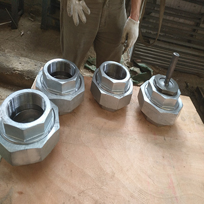 ASTM A105 Hex Union Forged 4 Inch Galvanized