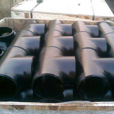 A234 WPB Equal Tee ASME B16.9 6 Inch SCH 40 Black