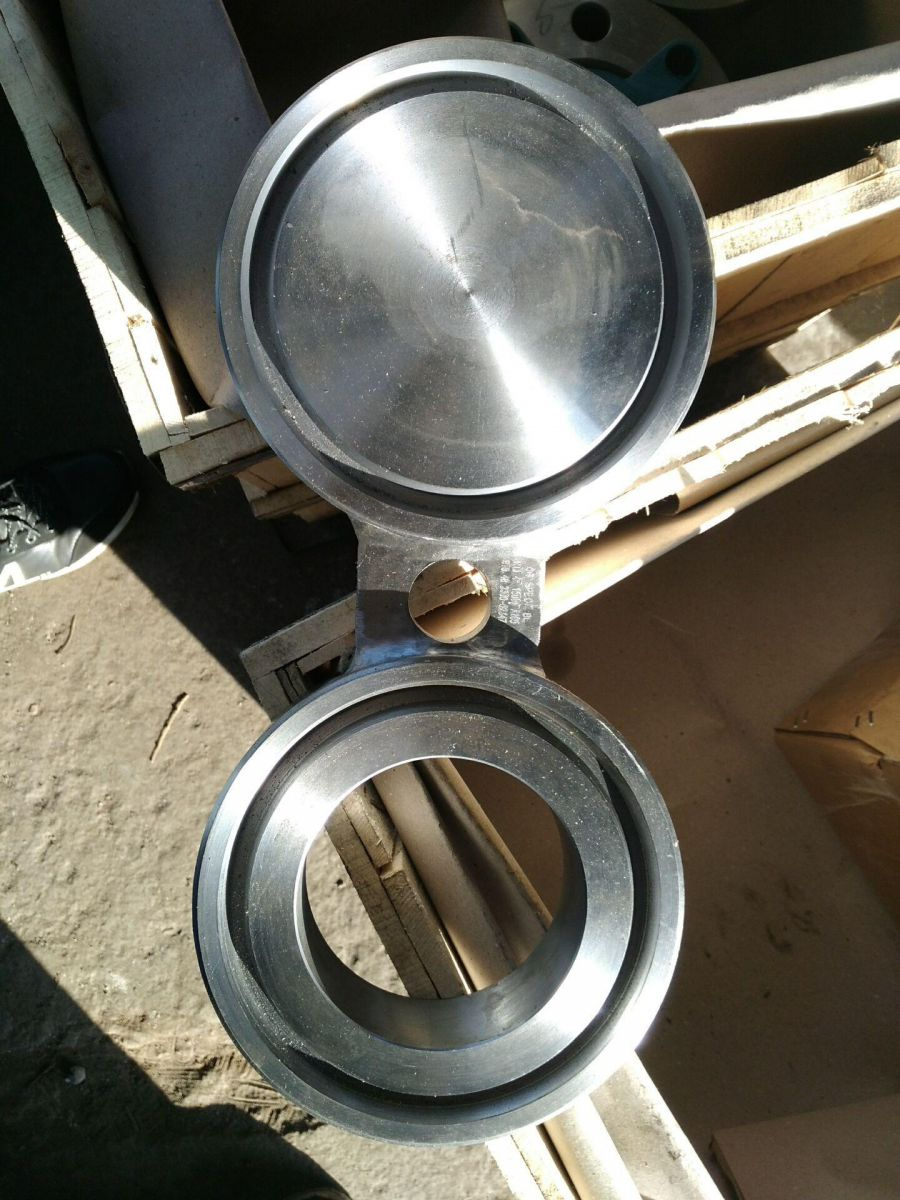 316L Spectacle Blind Flange Forged 10 Inch Class 1500 Sand Blast