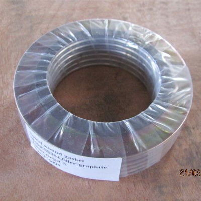 8 Inch Spiral Wound Gasket CS Outer Ring 150 LB THK 3.2mm Galvanized