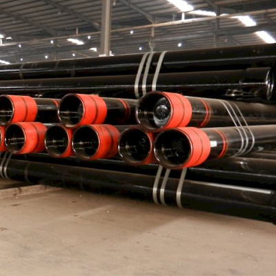 API 5CT J55 Seamless Pipe 7 Inch x 9.19mm R3 BTC Black