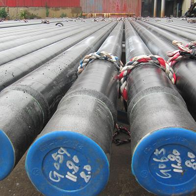 ASTM A106 Grade B Coated Seamless Steel Pipe OD 4 Inch 3PE Coating