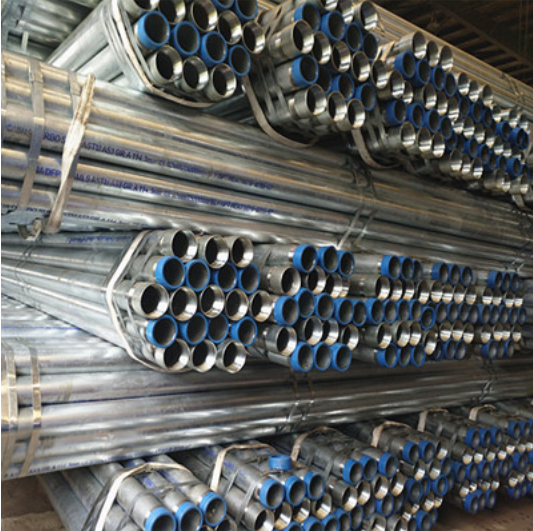 Hot Rolled Galvanized Steel Pipe ASTM A53 Gr.B OD 133mm T 4mm