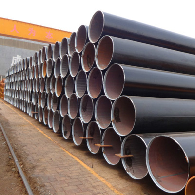 A252 Gr.2 LSAW Piling Pipe DN400 WT 16mm Black