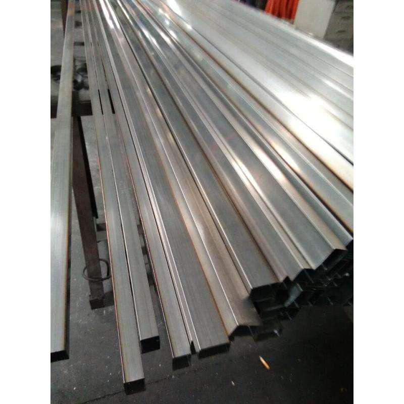 AISI 304 Stainless Steel Square Pipe Cold Drawn 15 X 12 X 1mm