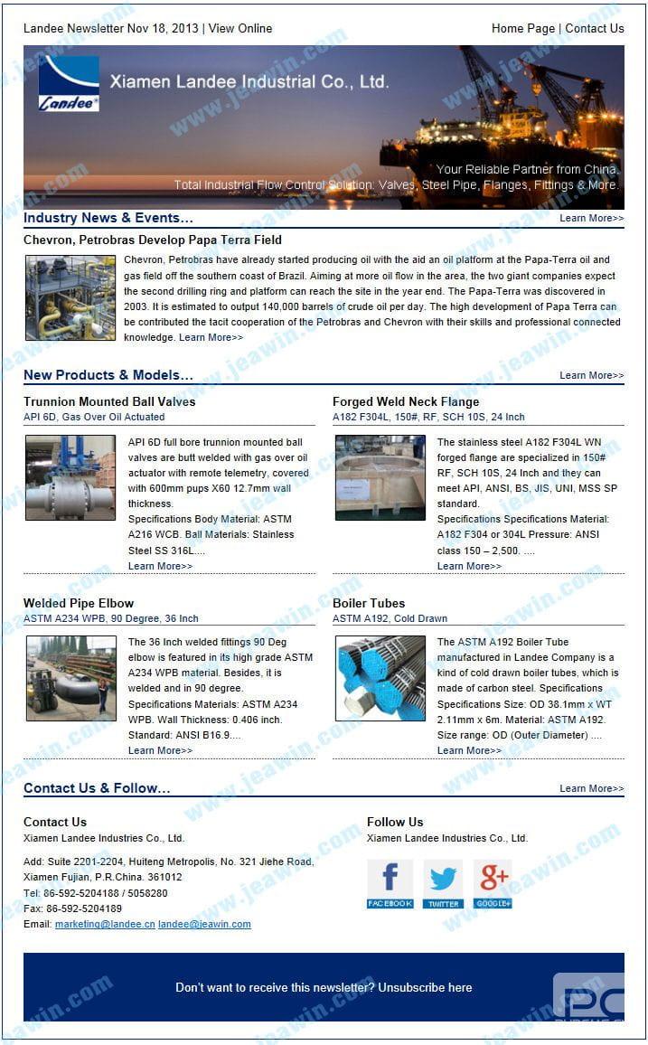 外贸企业电子新闻信 外贸客户开发邮件 外贸客户开发信