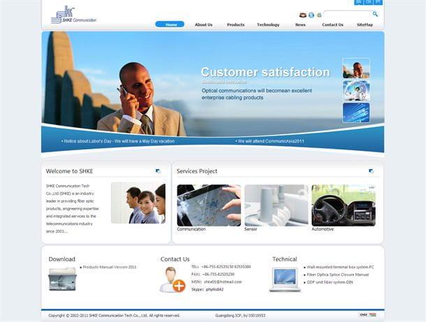 外贸网站建设案例:深圳晟科通信设备有限公司