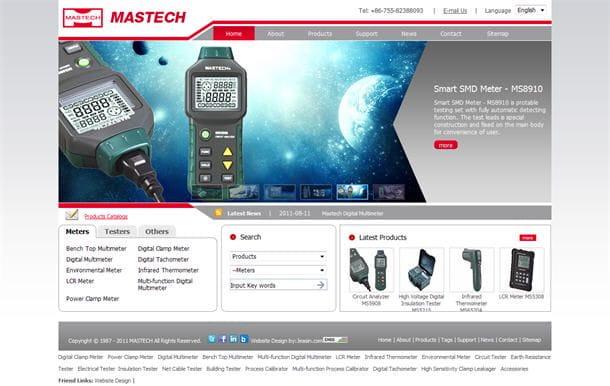 英文网站设计案例: 深圳Mastech Industrial