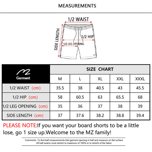 Quality men's board shorts