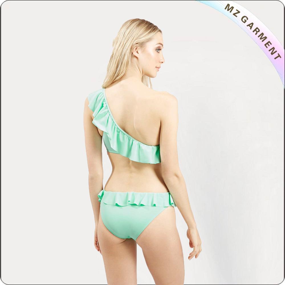 Adult One Shoulder Ruffle Bikini
