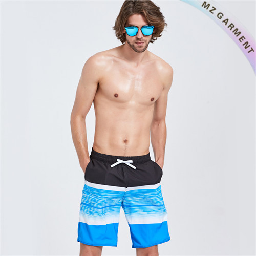 Black and Blue Boardshorts, Hydrophobic, Good Color Fastness