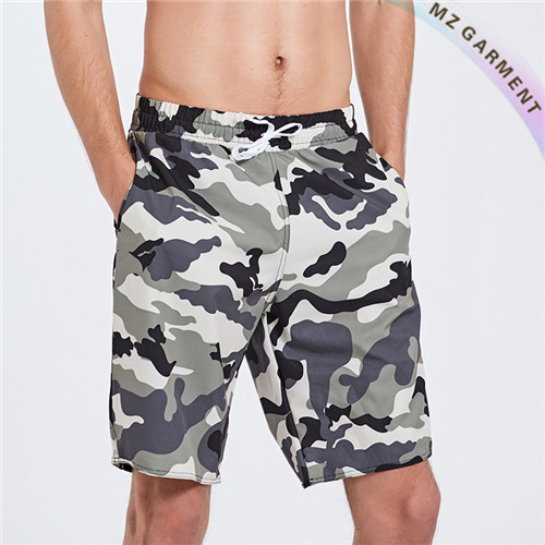Camo Swim Shorts, Fabric Polyester, OEM Service Available