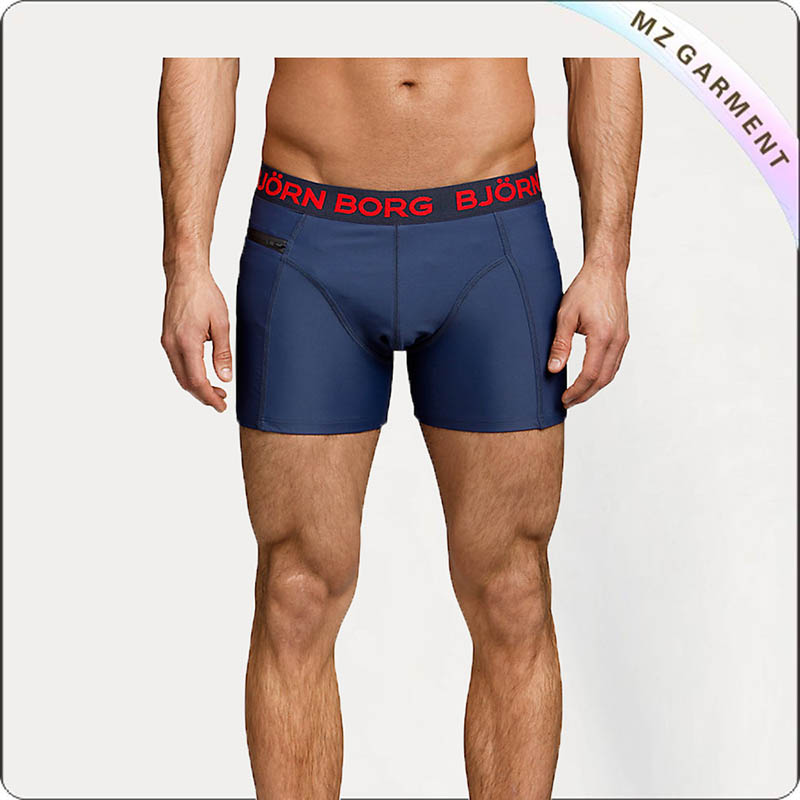 Men Boxer Swim Trunks