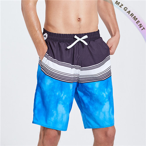 Men's Elastic Swim Trunks, for Beach Volleyball, Wearable, Bluish