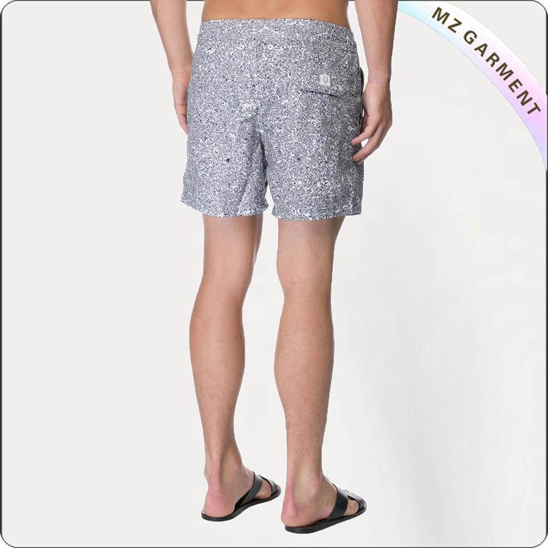 Men's Grey Solid Swim Bosrd Shorts