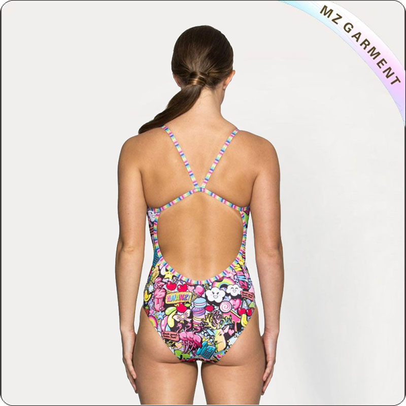 Women Squandering Competitive Swimsuit