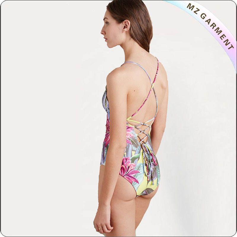 Floral String One Piece Monokini