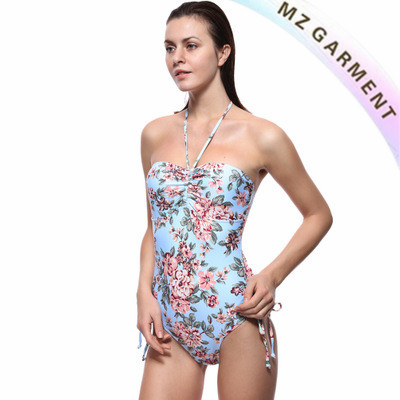 Halterneck Swimsuit, Halter Swimsuit, Made of Nylon, Spandex