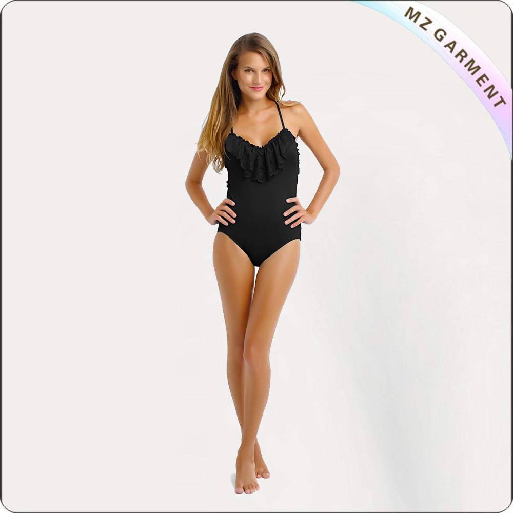 Laser Cut One Piece Swimsuit