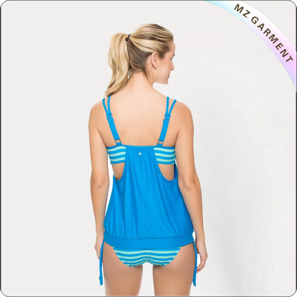 BLue Beach Double Up Tankini Bikini