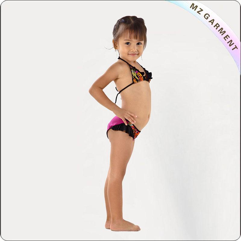 Kids Head Print Bikini