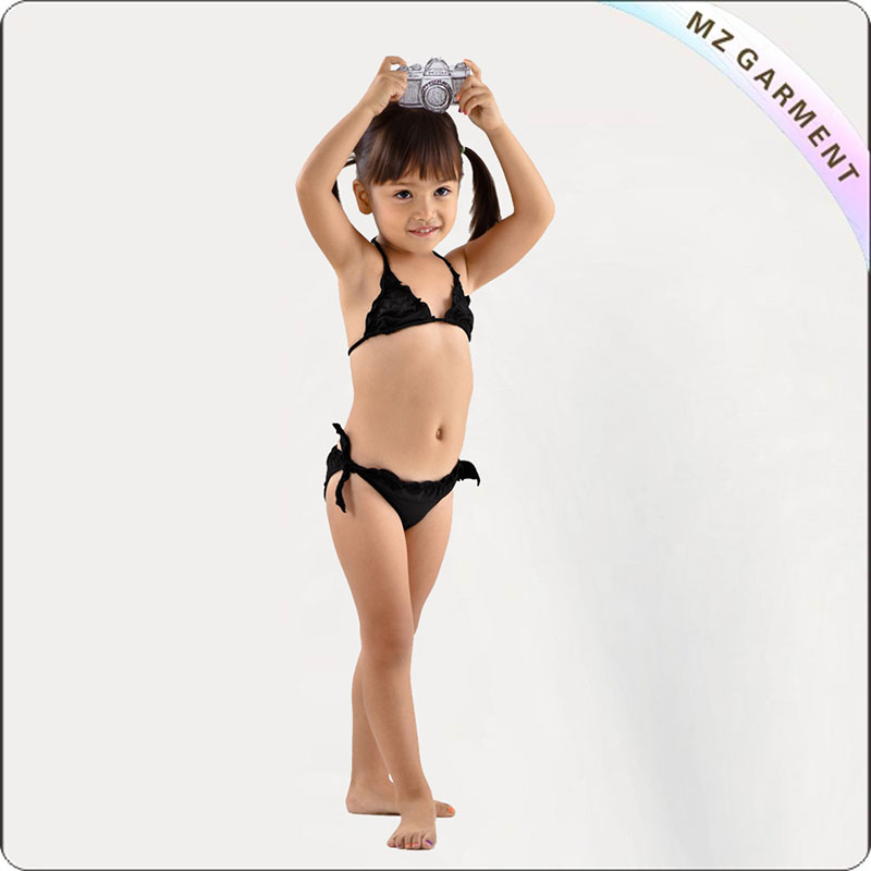 Kids Little Girl Black Bikini