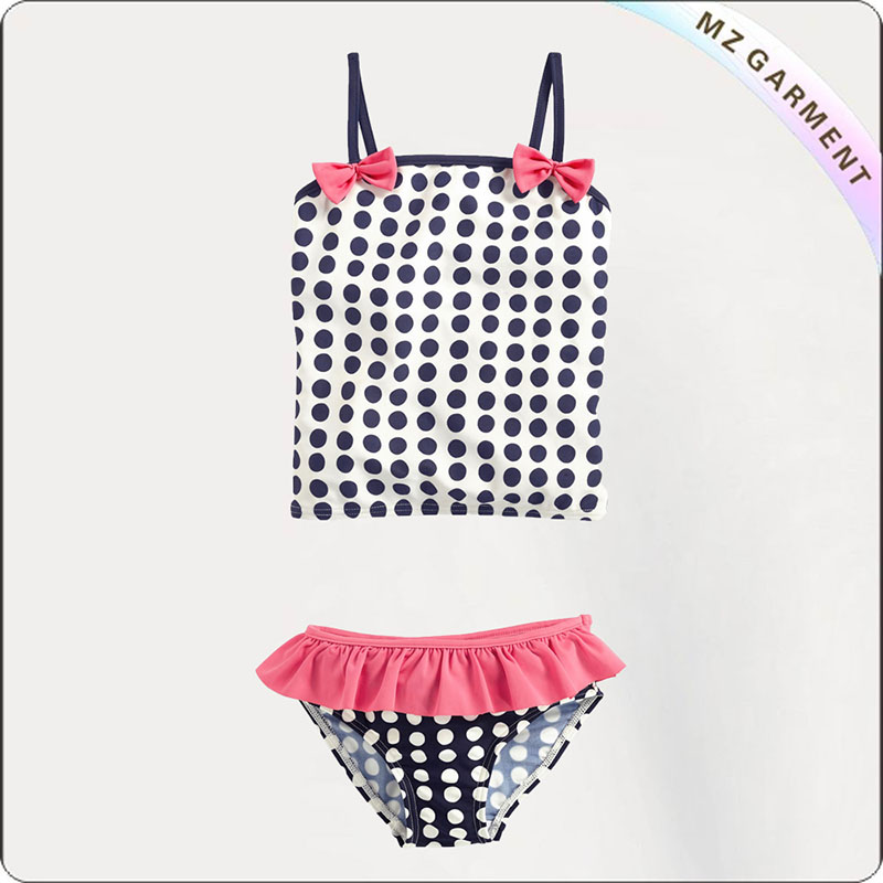 Kids Navy Dot Bikini