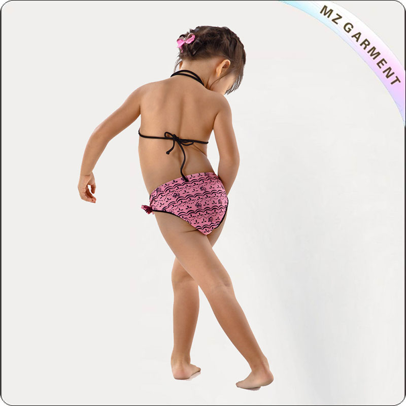 Kids Pink Dot Bikini