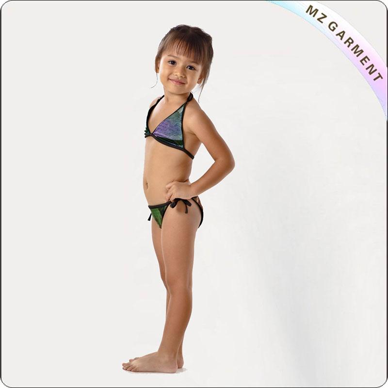 Kids Warrior Print Bikini