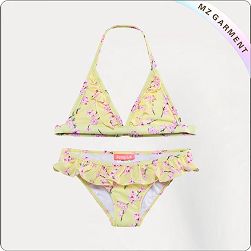 Kids Yellow Blossom UPF 50+ Bikini