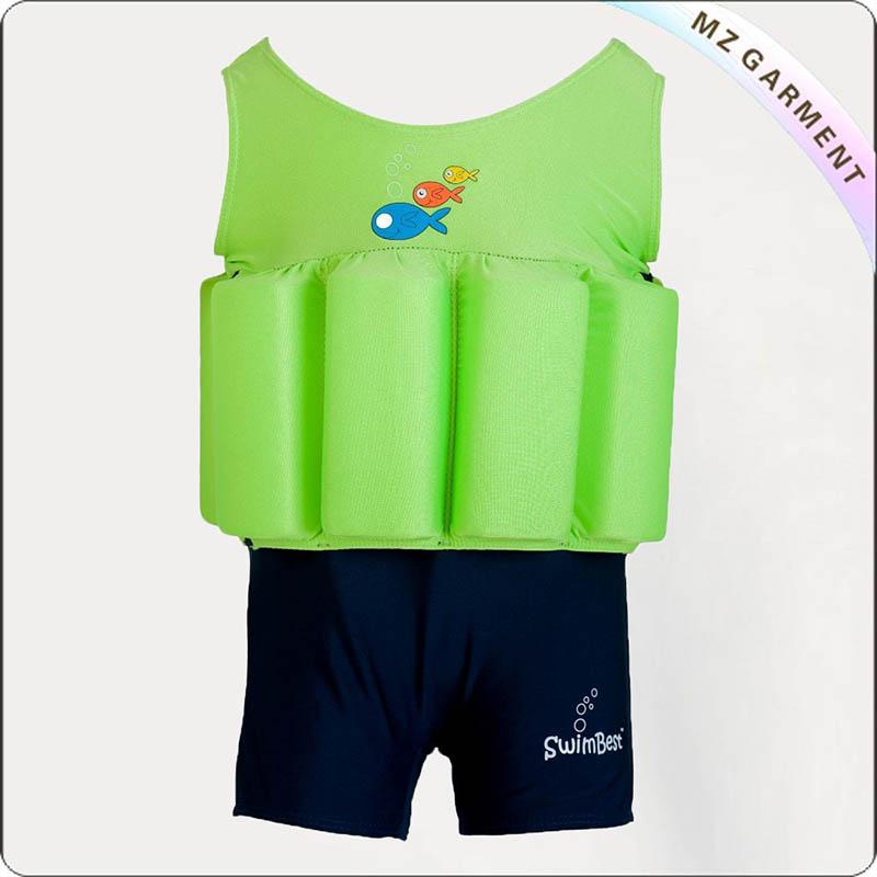 Green Navy Floating Swimwear