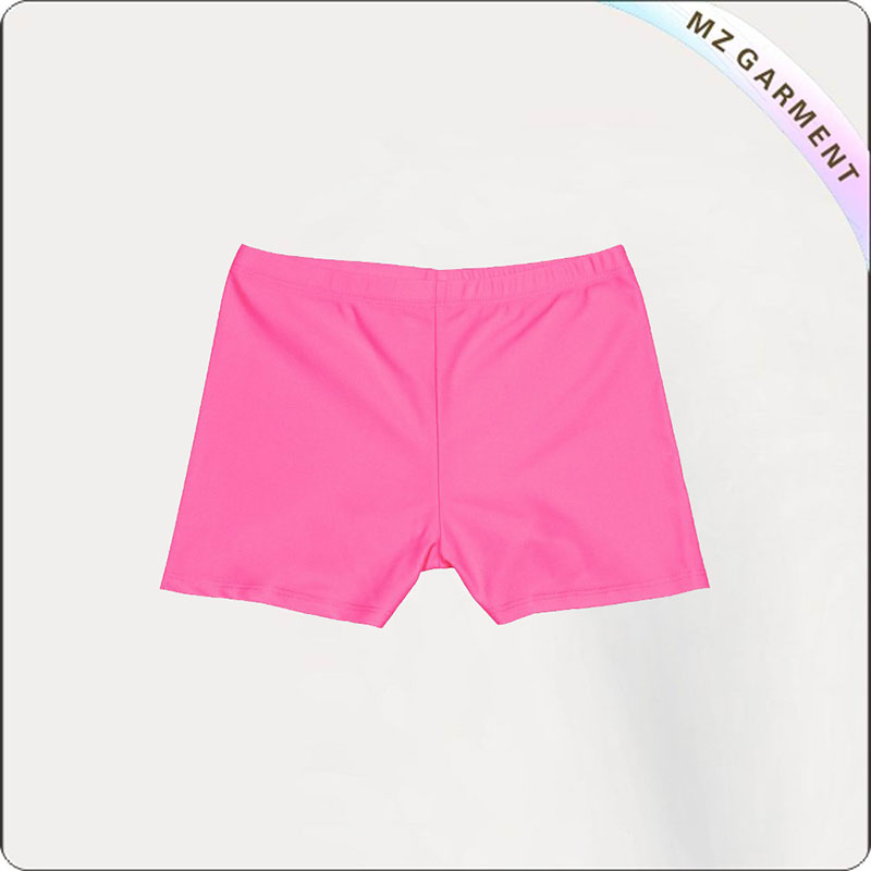 Solid Color Pink Girls' Hipsters