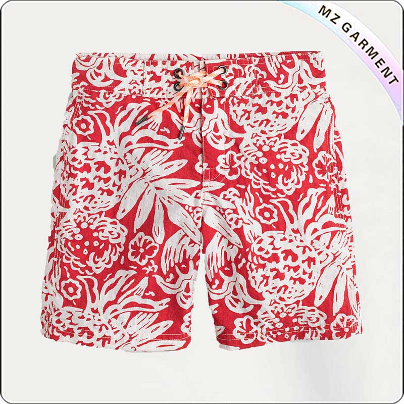 Boys' Board Shorts in Block Floral