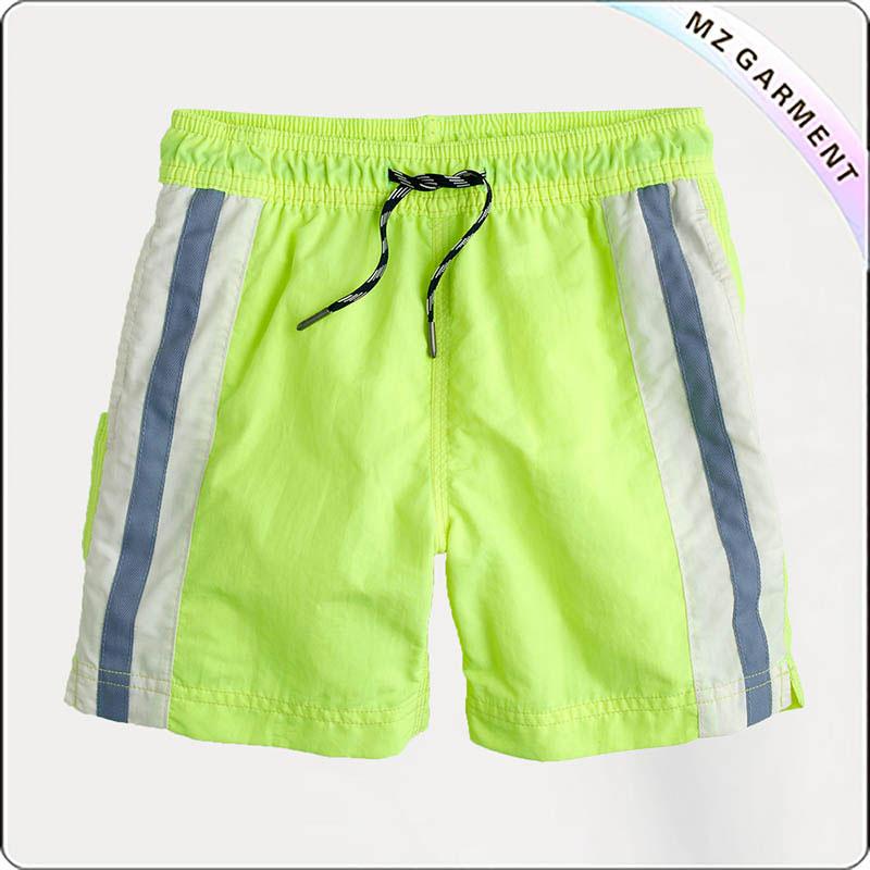 Boys' Striped Swim Board Shorts