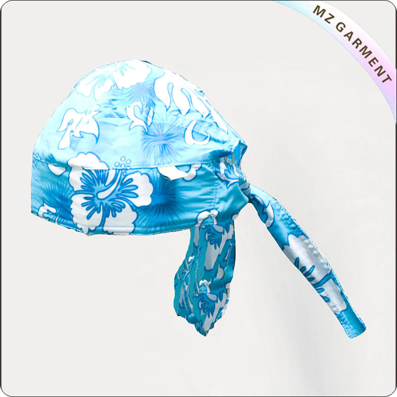 Baby Aqua Blue Bandana Sunhat