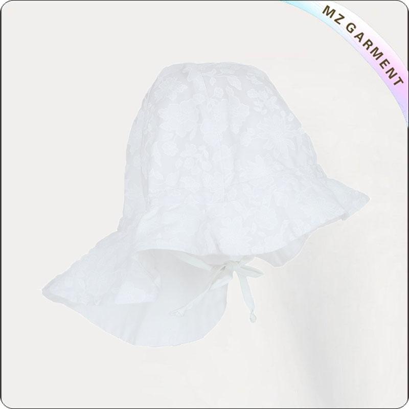 Baby White Face Protective Sunhat
