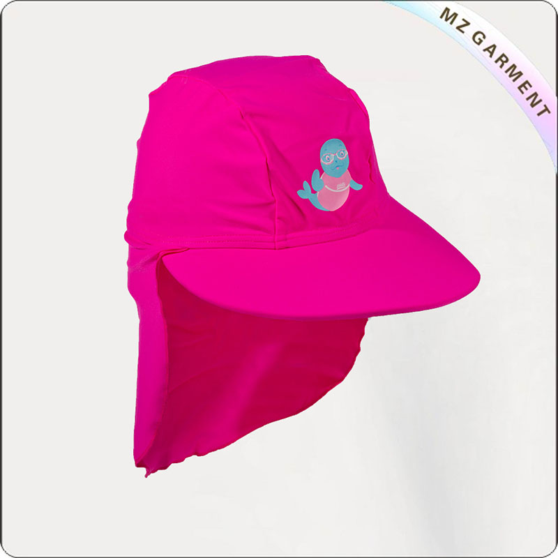 Kids Pink Neck Protective Sunhat