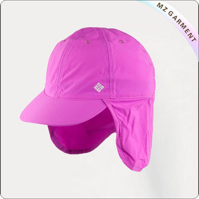 Kids Pink Schooner Flap Sunhat