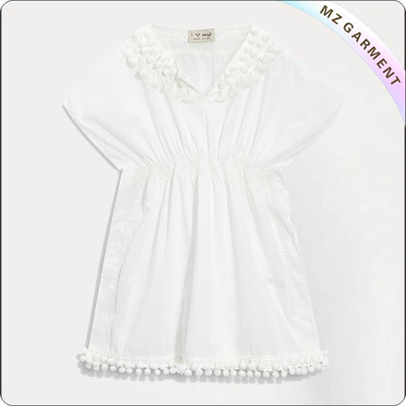 White Swimming Cover Up Tank Dress