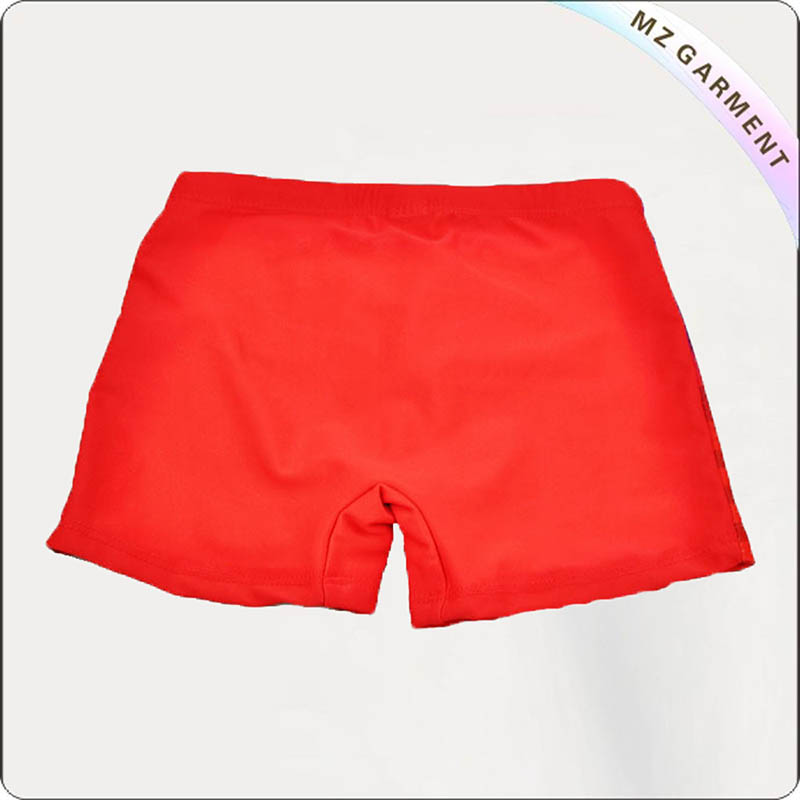 Boys' Red Cartoon Swimming Pants