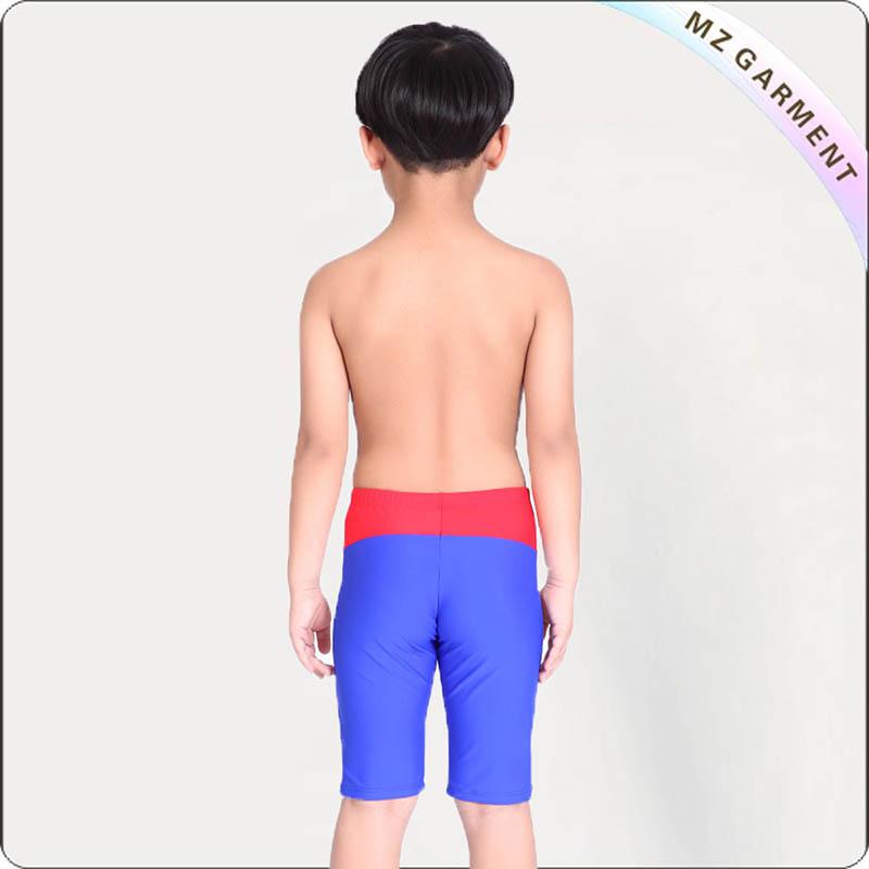 Boys' White Strip Swimming Pants