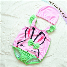 Baby Girl Bathing Suits, UPF 50+, Made of 82% Nylon, 18% Spandex