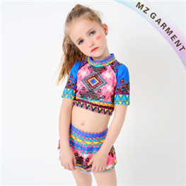Baby Girl Two Piece Swimsuits, 82% Nylon, 18% Spandex, XS-XL