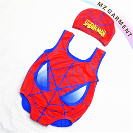 Baby Spiderman Swimsuit Manufacturer, Fabric 82% Nylon, 18% Spandex