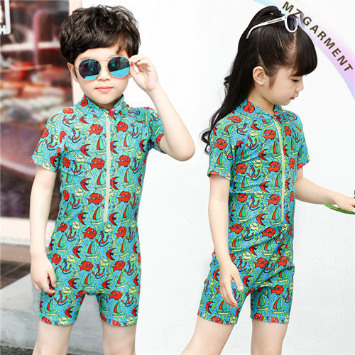 Children's Sun Safe Swimwear, Short Sleeve, Custom Printing