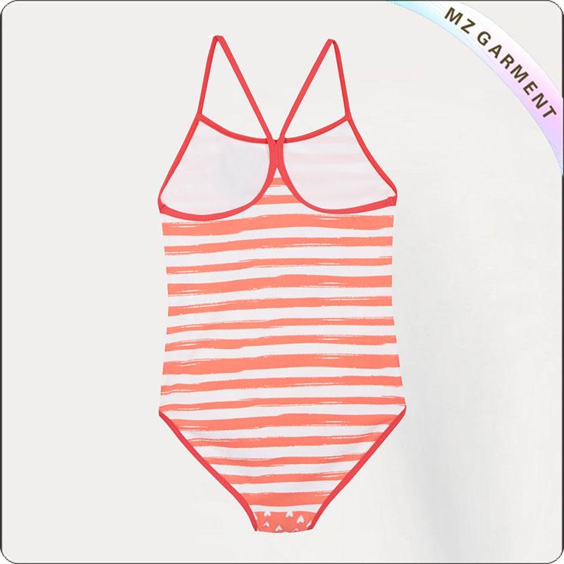 Girls' Fashionable Cartoon Swimsuit